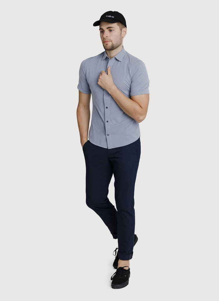 Court Stretch Button Down, Medieval Chambray | Kit and Ace