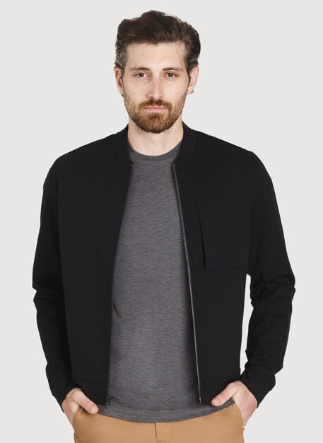 Comfort Bomber Jacket, Deep Black | Kit and Ace