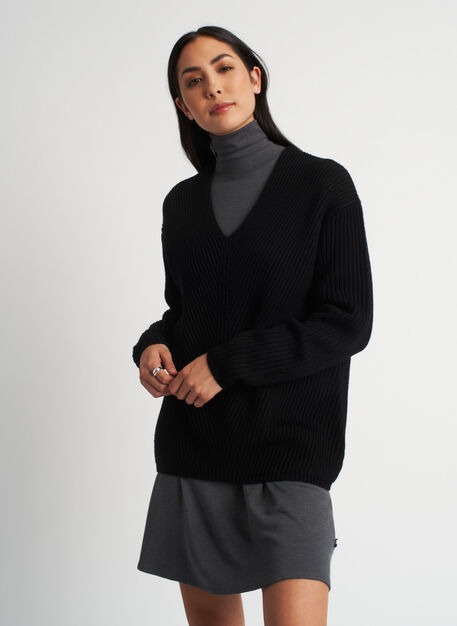 Cloud Merino Sweater, Black | Kit and Ace