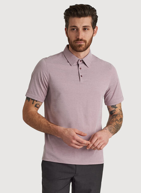 City Tech Polo, Sangria Chambray | Kit and Ace