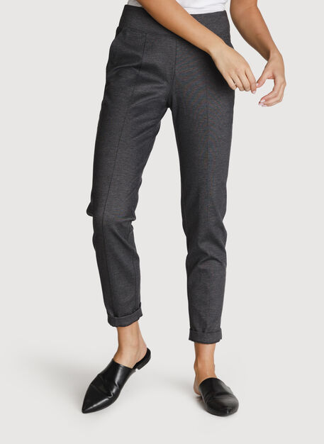 On Repeat Pintuck Trouser 2.0, Charcoal Melange | Kit and Ace