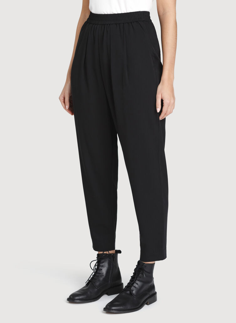 City Silk Pant, BLACK | Kit and Ace