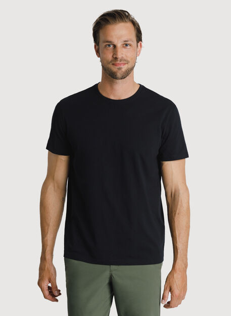 Ace Pima Crew Tee, BLACK | Kit and Ace