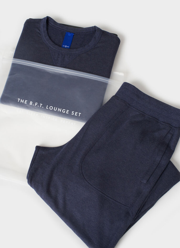B.F.T. Lounge Set, Heather Dark Navy | Kit and Ace