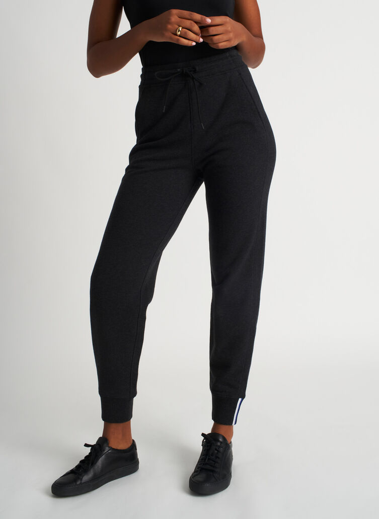 Pacific Coast Sweatpants, Heather Black | Kit and Ace