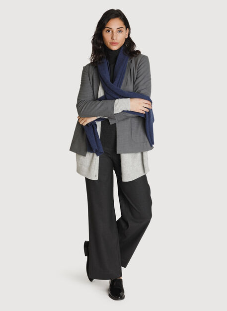 Cashmere Scarf, HTHR Blue Stone | Kit and Ace