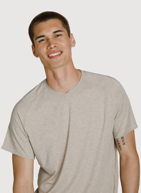 Lightweight V Tee, HTHR Maple | Kit and Ace