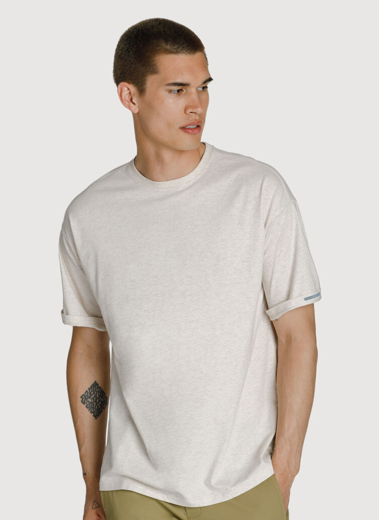 Ace Pima Oversized Tee, HTHR Aran | Kit and Ace