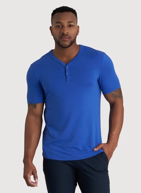 Ace Tech Henley, Ocean | Kit and Ace