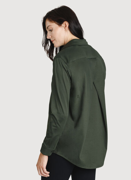 O.T.M. Pleated Button Up, Deep Forest | Kit and Ace