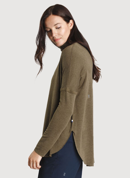Burrow Turtleneck, HTHR Moss | Kit and Ace