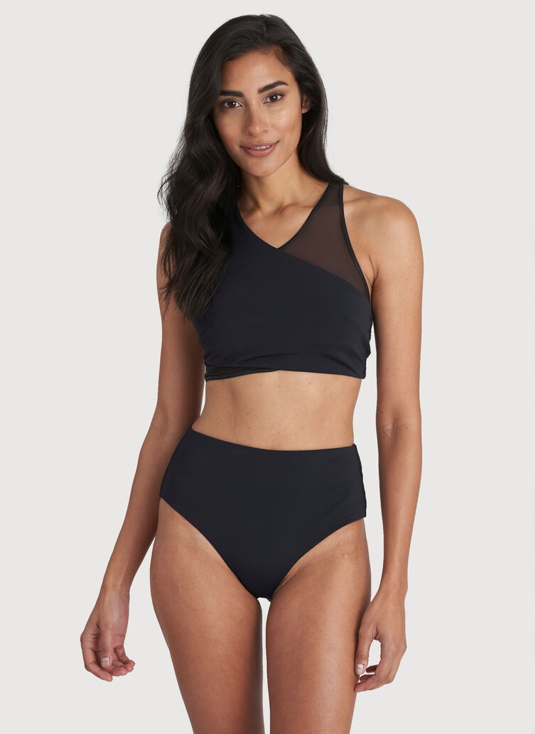 Beach Please Swim Top, Black | Kit and Ace