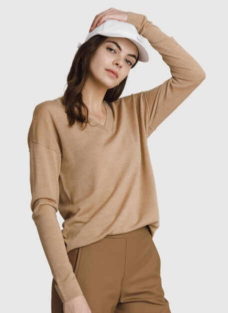 Sunsetter Turnaround Sweater, Toffee | Kit and Ace