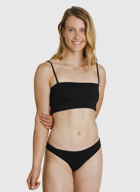 2 in 1 Bandeau Swim Top, BLACK | Kit and Ace