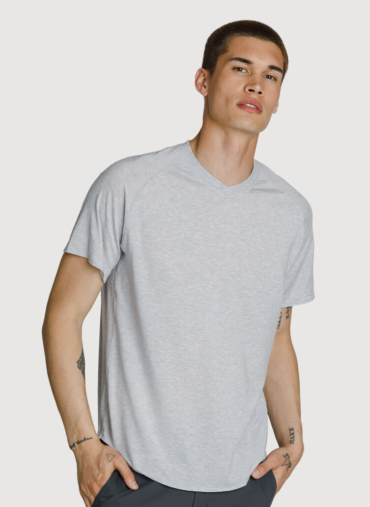 Lightweight V Tee, HTHR Ash | Kit and Ace