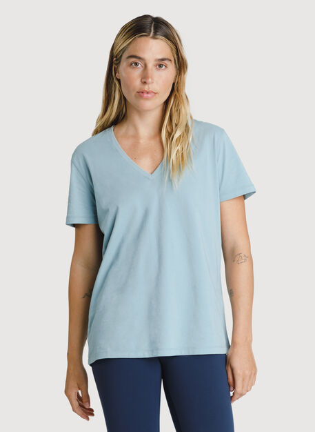 Kit Pima V Tee, Ocean Blue | Kit and Ace