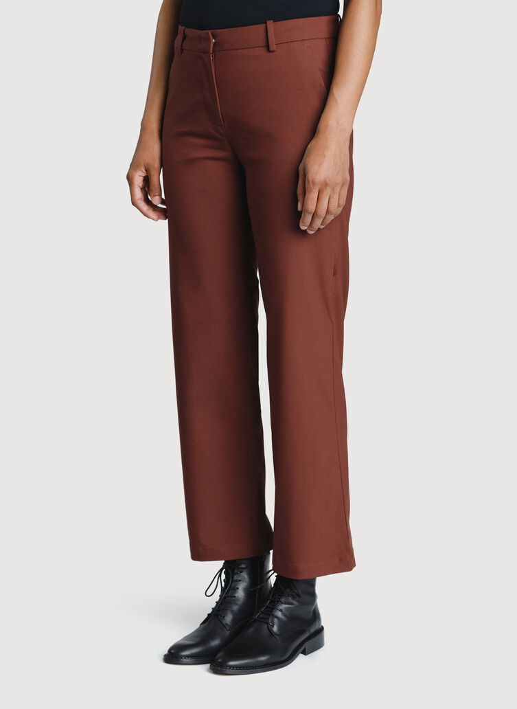 Wide Leg Ankle Pants, Cherrywood | Kit and Ace