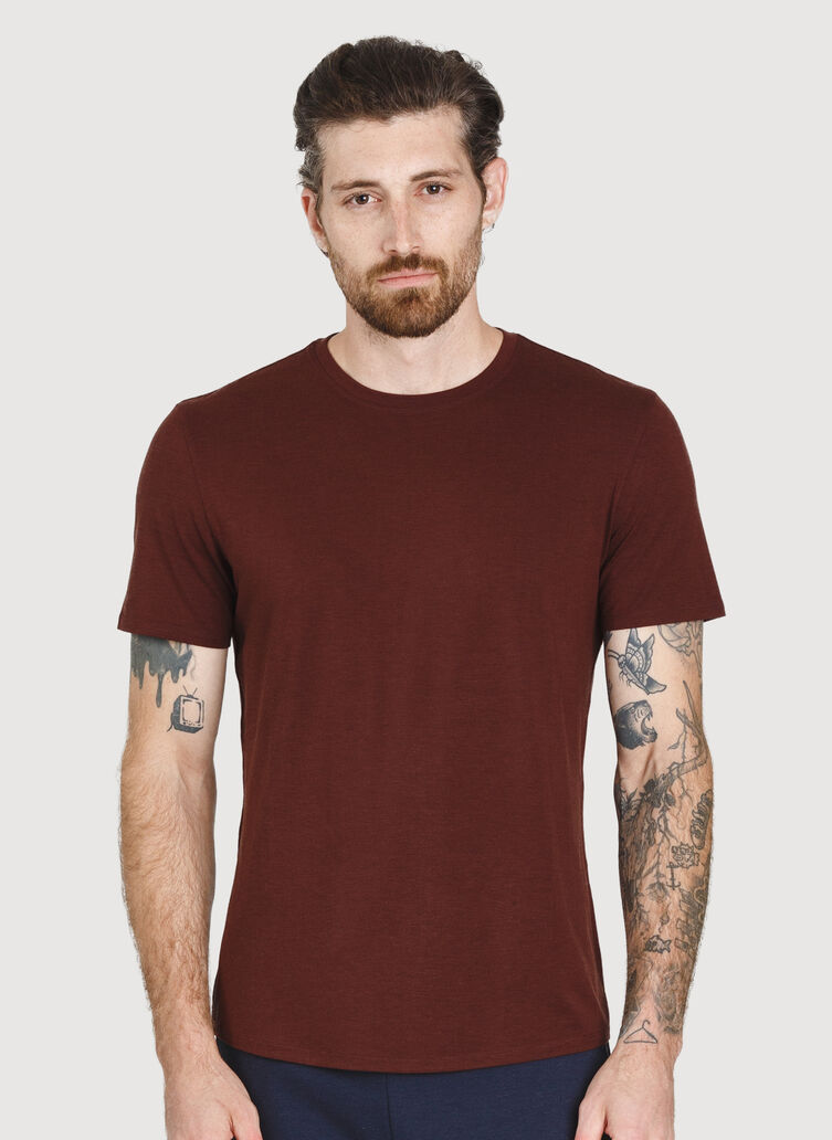 Ace Crewneck Tee, Cherrywood | Kit and Ace