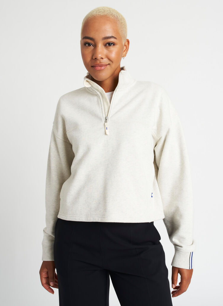 Lounge Pullover, Heather Birch | Kit and Ace