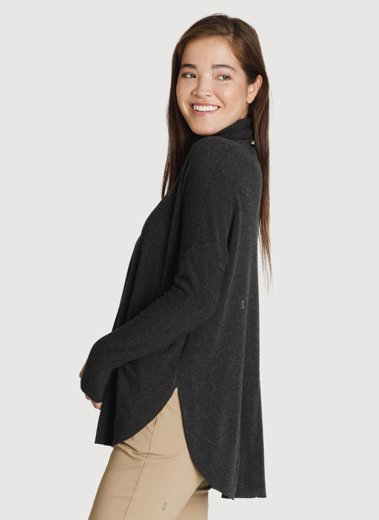 Burrow Brushed Turtleneck, HTHR Charcoal | Kit and Ace