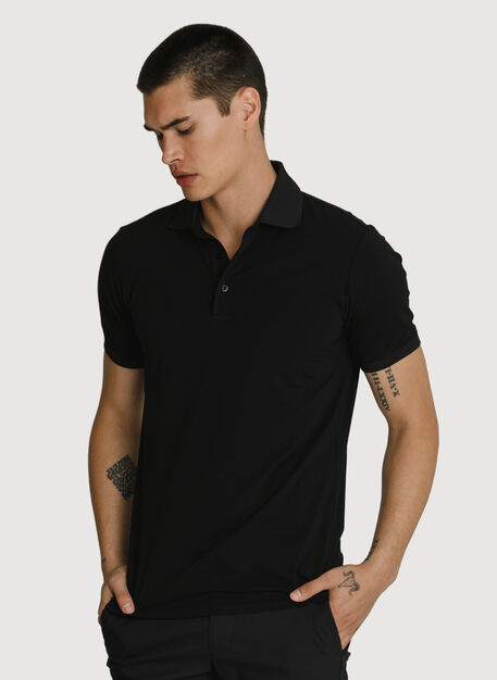 Stretch Pima Polo, BLACK | Kit and Ace