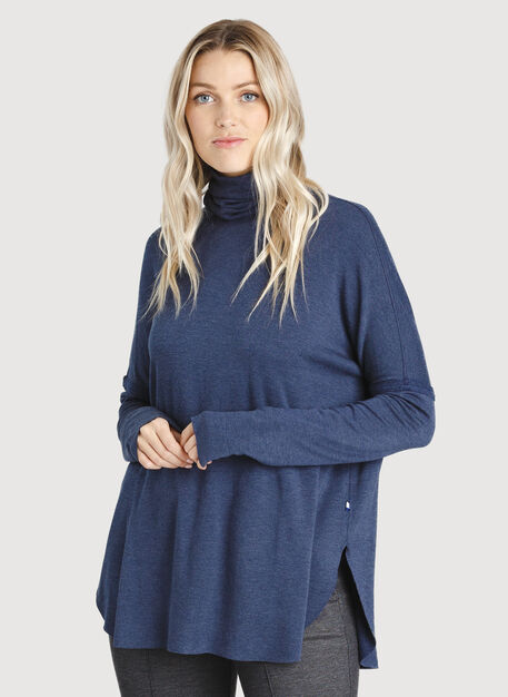 Burrow Turtleneck, HTHR DK Navy | Kit and Ace