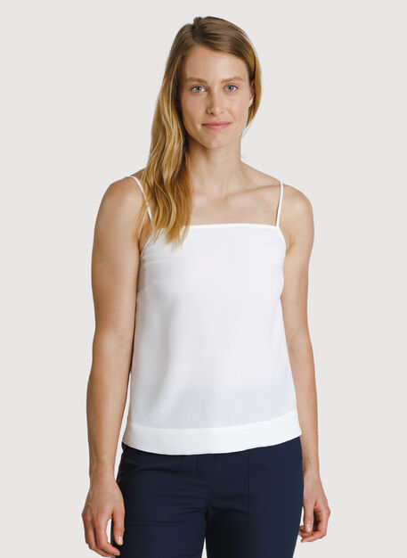 Bike to Office Silk Cami, Bone | Kit and Ace