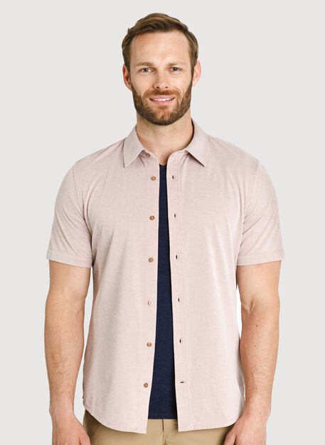City Tech Short Sleeve Shirt, Glazed Ginger Chambray | Kit and Ace