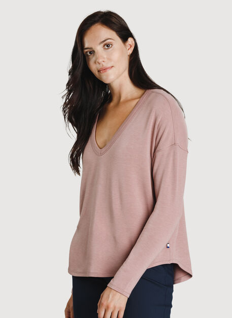 Easy Long Sleeve, HTHR Fawn | Kit and Ace