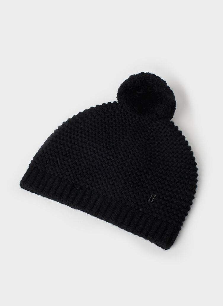 Pom Queen Toque, Black | Kit and Ace