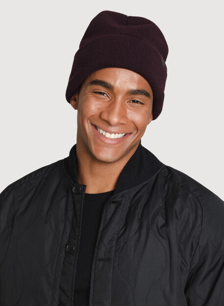 Reversible Merino Toque, Mahogany/HTHR Shadow | Kit and Ace
