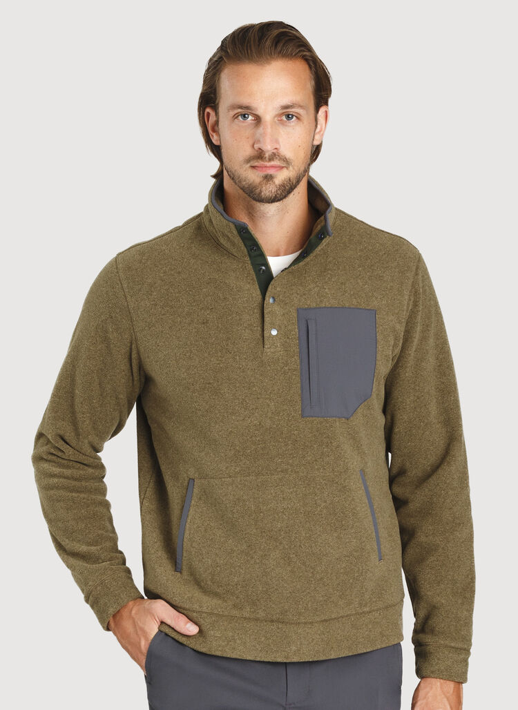 Snug Pullover, Heather Moss | Kit and Ace