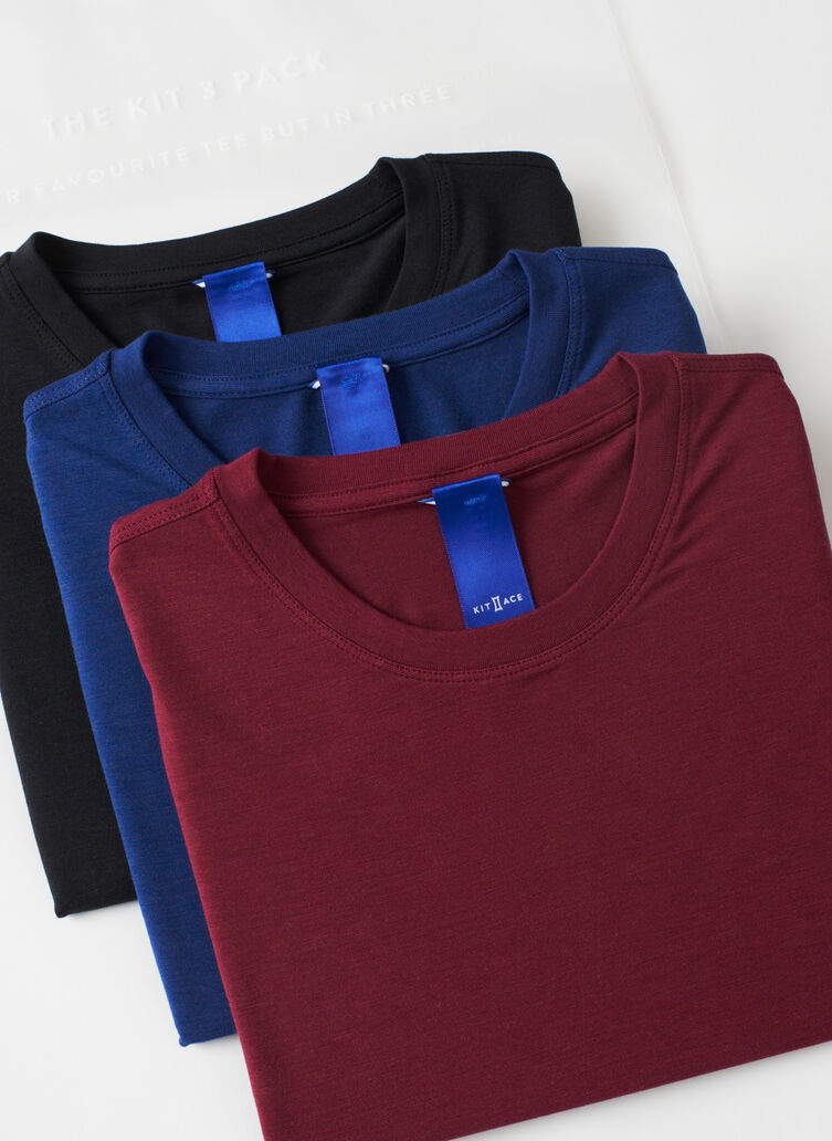 Kit Crew 3 Pack, Black/Deep Blue/Plum | Kit and Ace