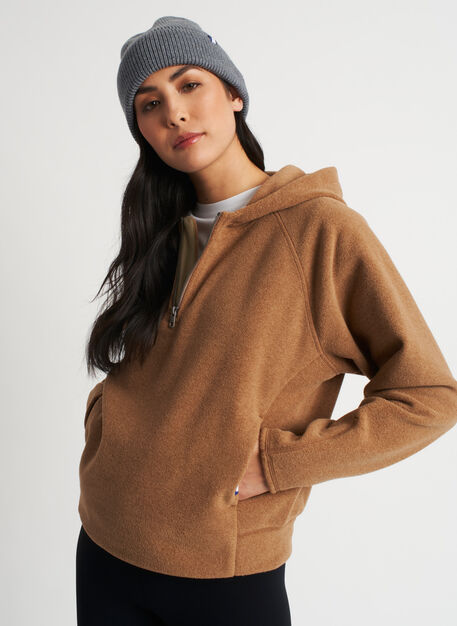 Hygge Fleece Hoodie, Toffee | Kit and Ace
