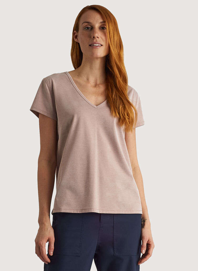 O.T.M. V Tee, Glazed Ginger Chambray | Kit and Ace
