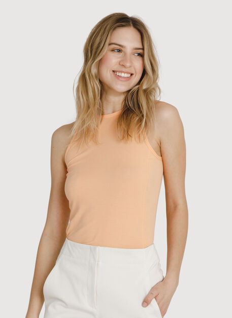 Seaside Summer High Neck Tank, Peach Cobbler | Kit and Ace