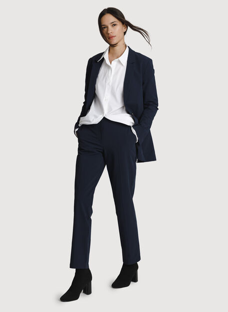 Relaxed Stretch Blazer, DK Navy | Kit and Ace