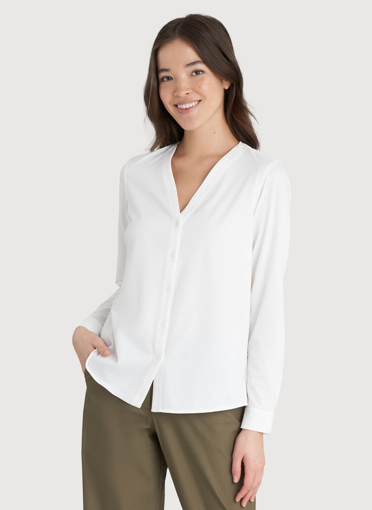 Going Places Blouse, Bright White   Kit and Ace