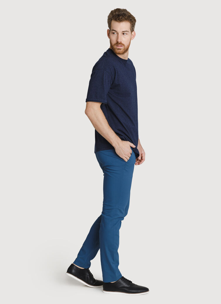Ace Pima Oversized Tee, HTHR Deep Navy | Kit and Ace