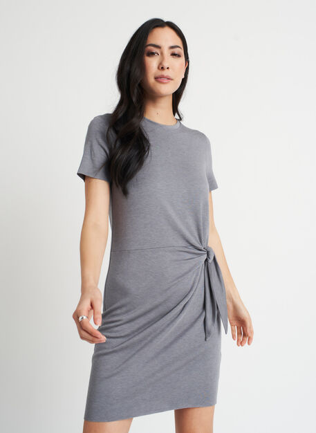Brushed Tie Dress, Heather Shade | Kit and Ace