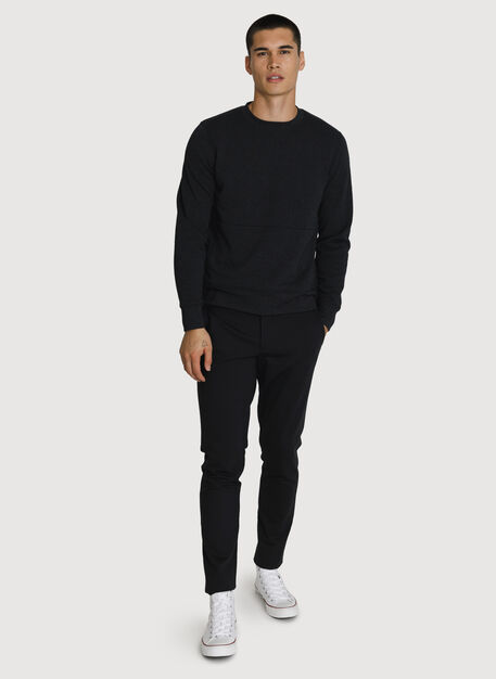 Rec Crew Neck, HTHR Black | Kit and Ace