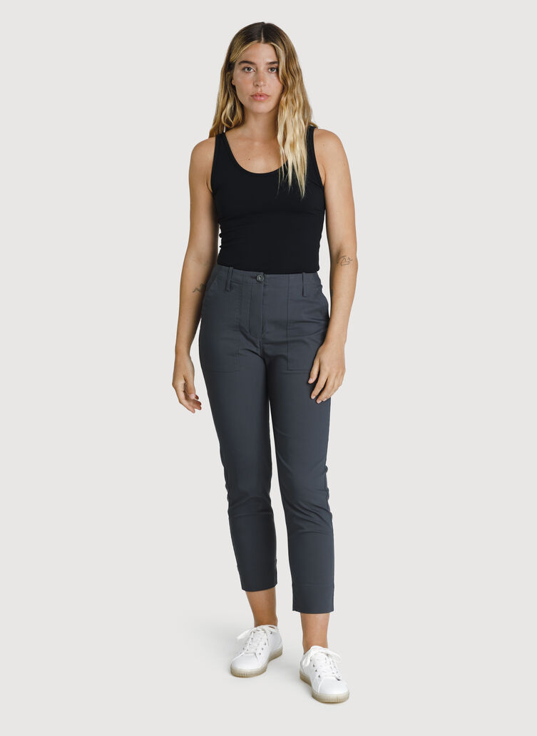 Navigator High Rise Crop, Charcoal | Kit and Ace