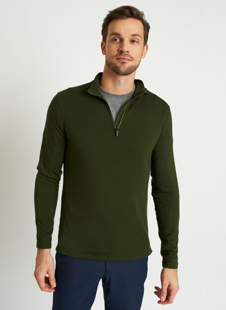 Comfy Quarter Zip Pullover, Grove Green | Kit and Ace