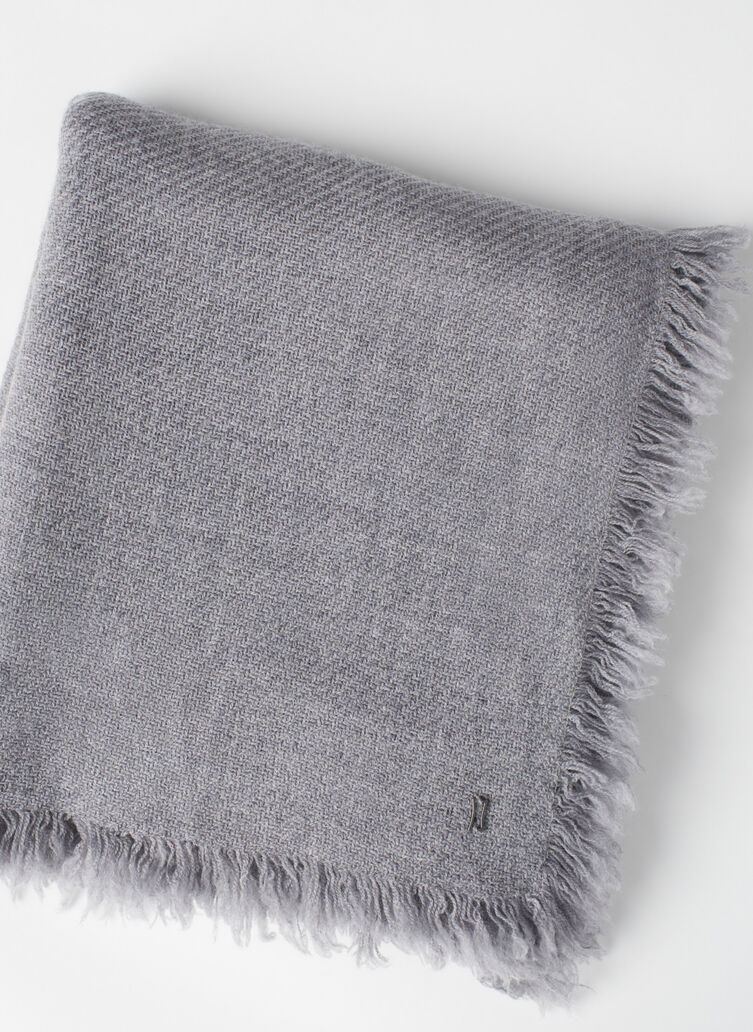 Blanket Scarf, Heather Pebble | Kit and Ace