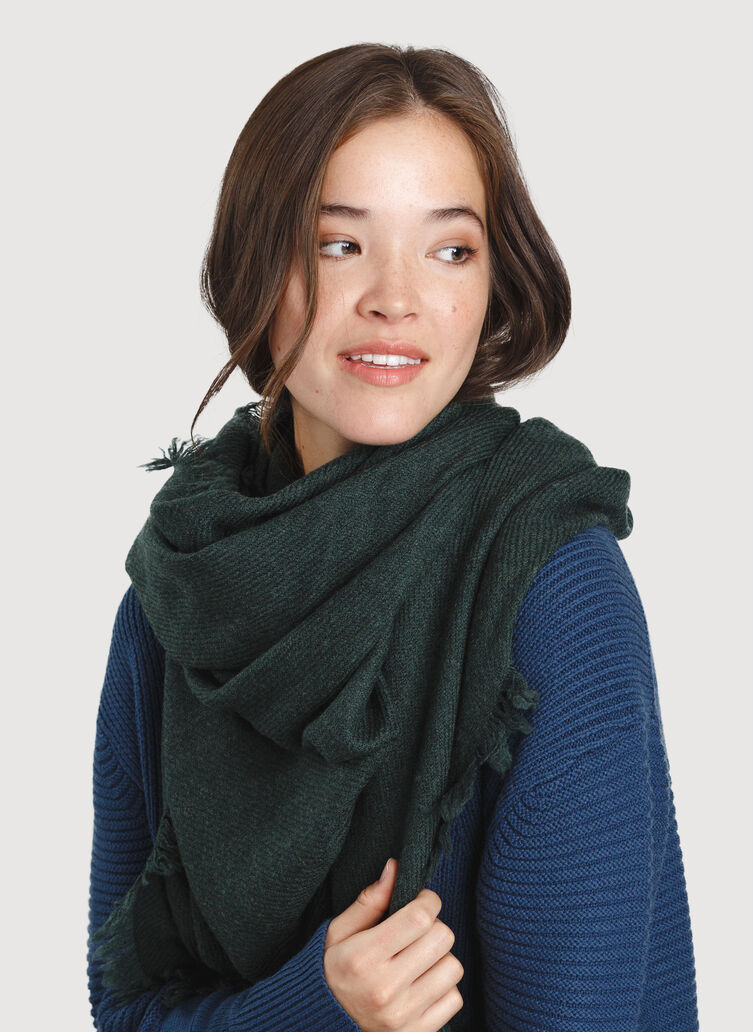 Blanket Scarf, Heather Deep Forest | Kit and Ace