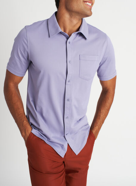 City Tech Classic Short Sleeve Shirt, Lavender | Kit and Ace