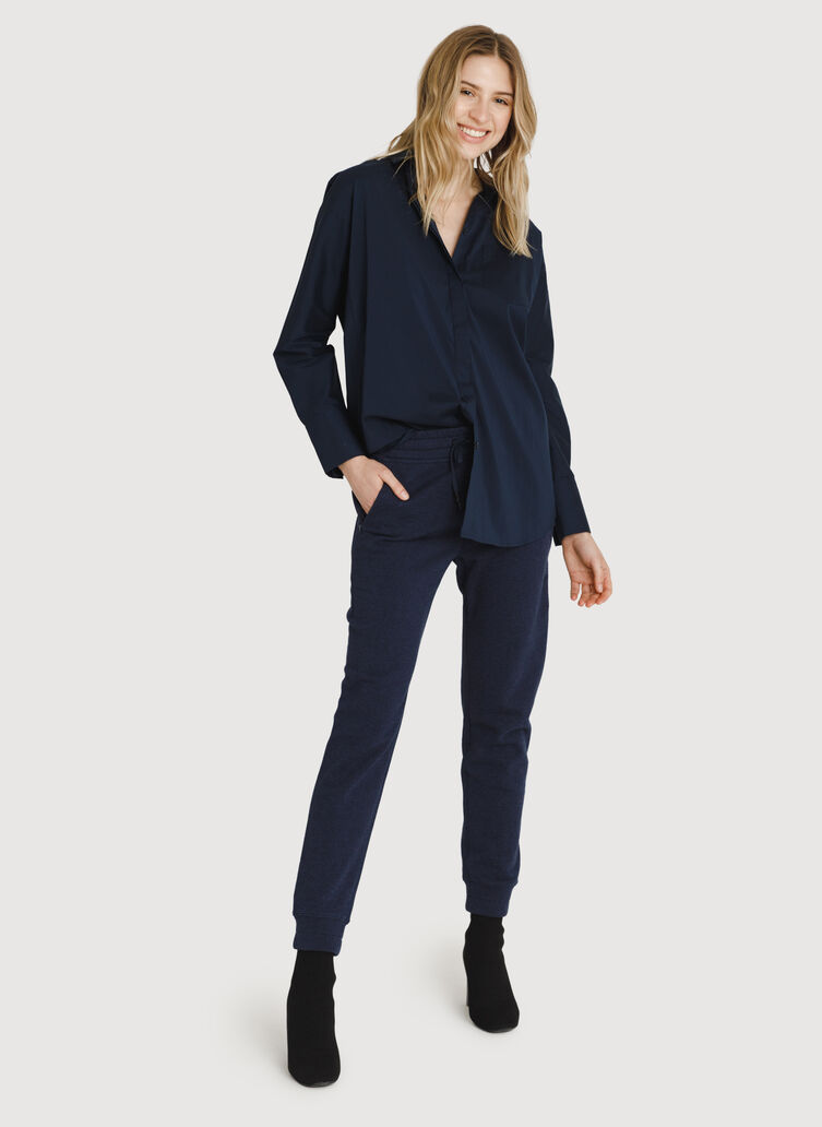 Terry Pull-on Pant, HTHR Deep Navy | Kit and Ace
