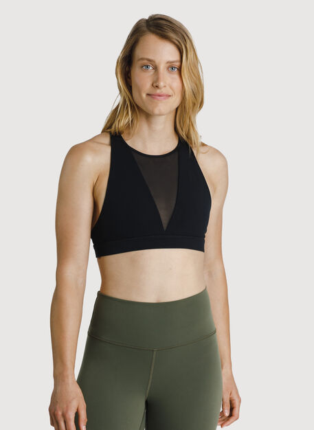 The Base High Neck Bra, Black | Kit and Ace