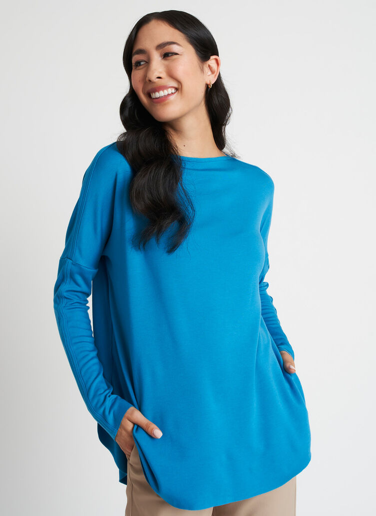 Burrow Pullover, Bright Blue | Kit and Ace