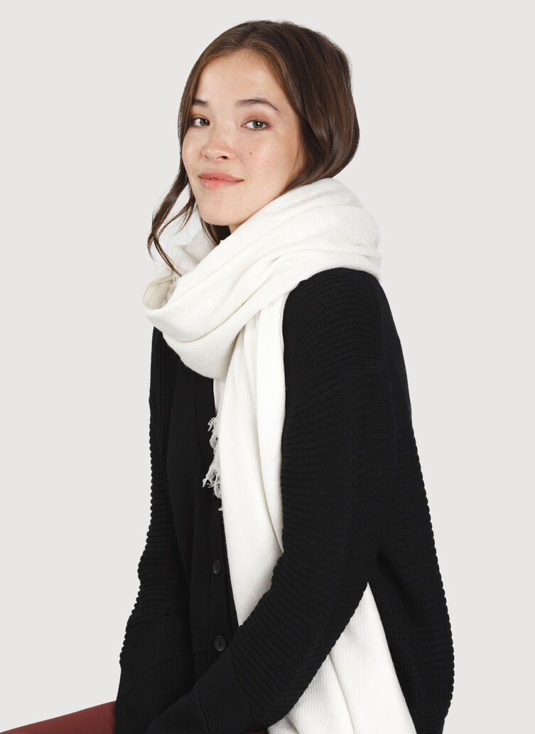 Blanket Scarf, Heather Ecru | Kit and Ace
